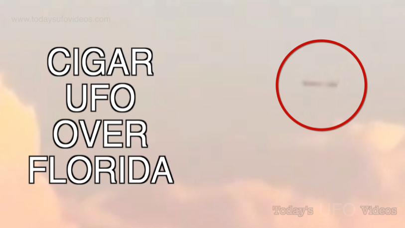 Cigar UFO Captured Over Petersburg, Florida