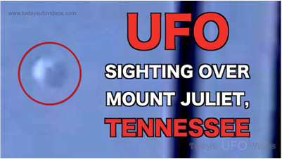 UFO Sighting Over Mount Juliet, Tennessee